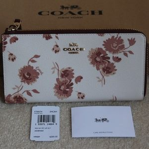 Coach L-Zip Wallet - Chalk Multi